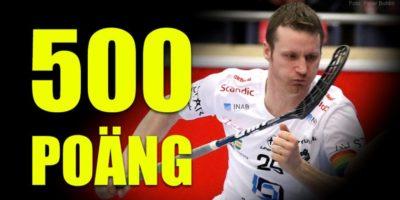 Kong Ketil satte sitt 500 poeng i svensk innebandy.
